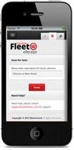 Mobile Fleet e-Receipt app