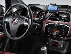 TomTom built-in navigation in Fiat vehicle