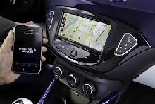 Opel ADAM equipped with IntelliLink infotainment system
