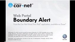 Setting a Boundary Alert Via the Web Portal