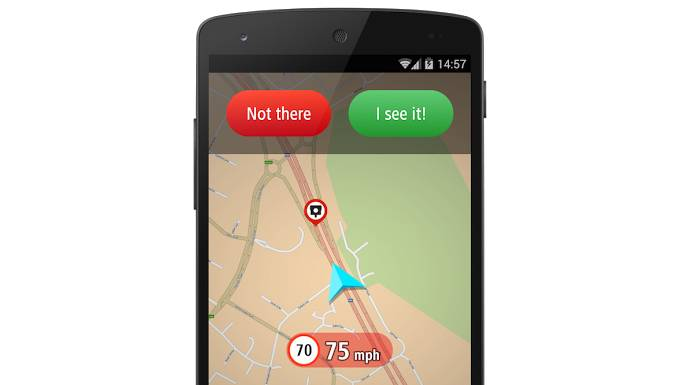 TomTom speed camera app