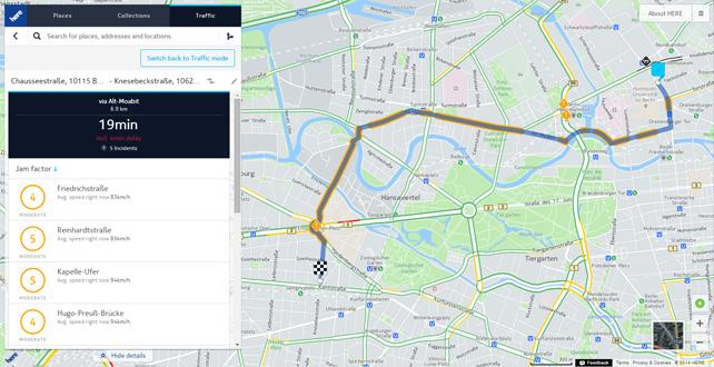 Here.com Traffic