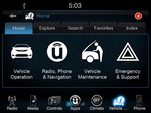 "Fiat-Chrysler introduces ""UConnect Vehicle User Guide"" app"