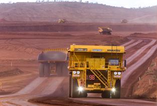 Komatsu AHS mining truck