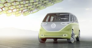 VW introduced new all-electric and autonomous retro microbus
