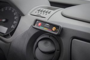 Cockpit assistant: The telematics panel from Masternaut is available ex-works installed in the Opel Movano and Vivaro. The system provides fleet operators with data such as fuel consumption and vehicle location.