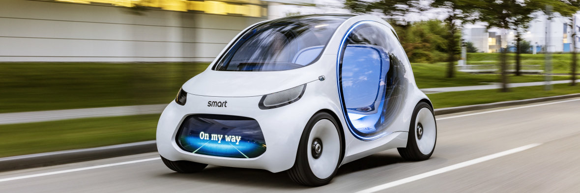 Autonomous concept car smart vision EQ fortwo to be shown by Smart at Frankfurt Motor Show