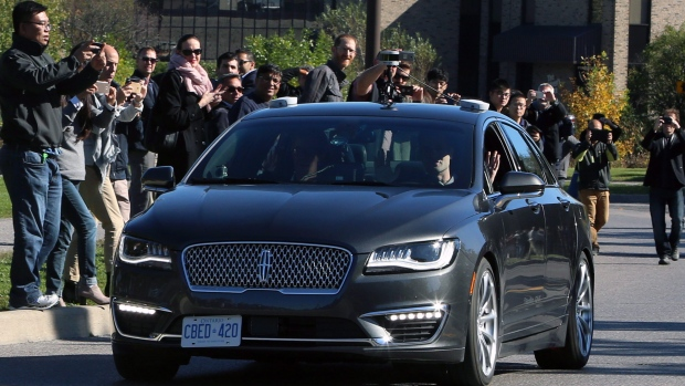 BlackBerry tests autonomous car for the first time on the public streets of Canada