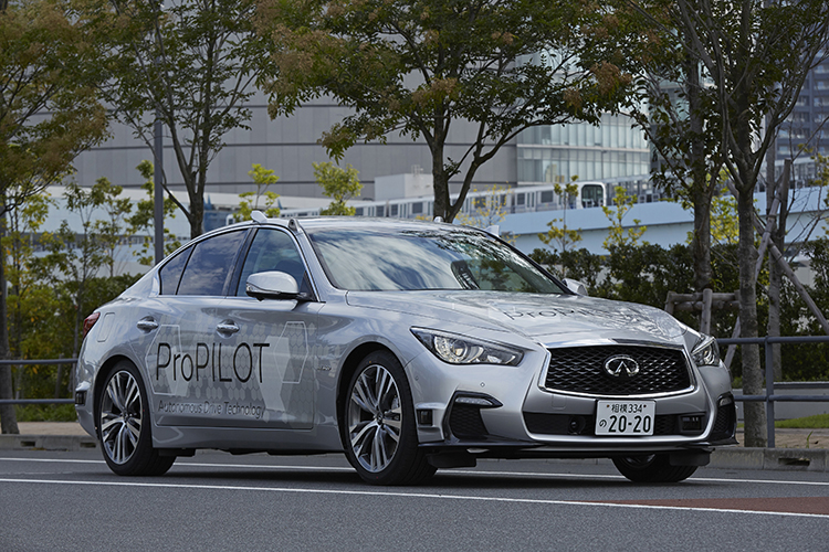 Nissan tests fully self-driving car prototype on streets of Tokyo
