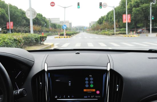 GM demonstrates its Vehicle-to-Infrastructure (V2I) capability on public roads of Shanghai