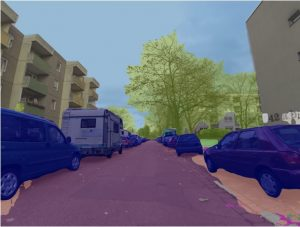 Object detections on Mapillary include common traffic participants such as cars as well as more rare ones like caravans (image on Mapillary by jeluf, licensed under CC-BY-SA)